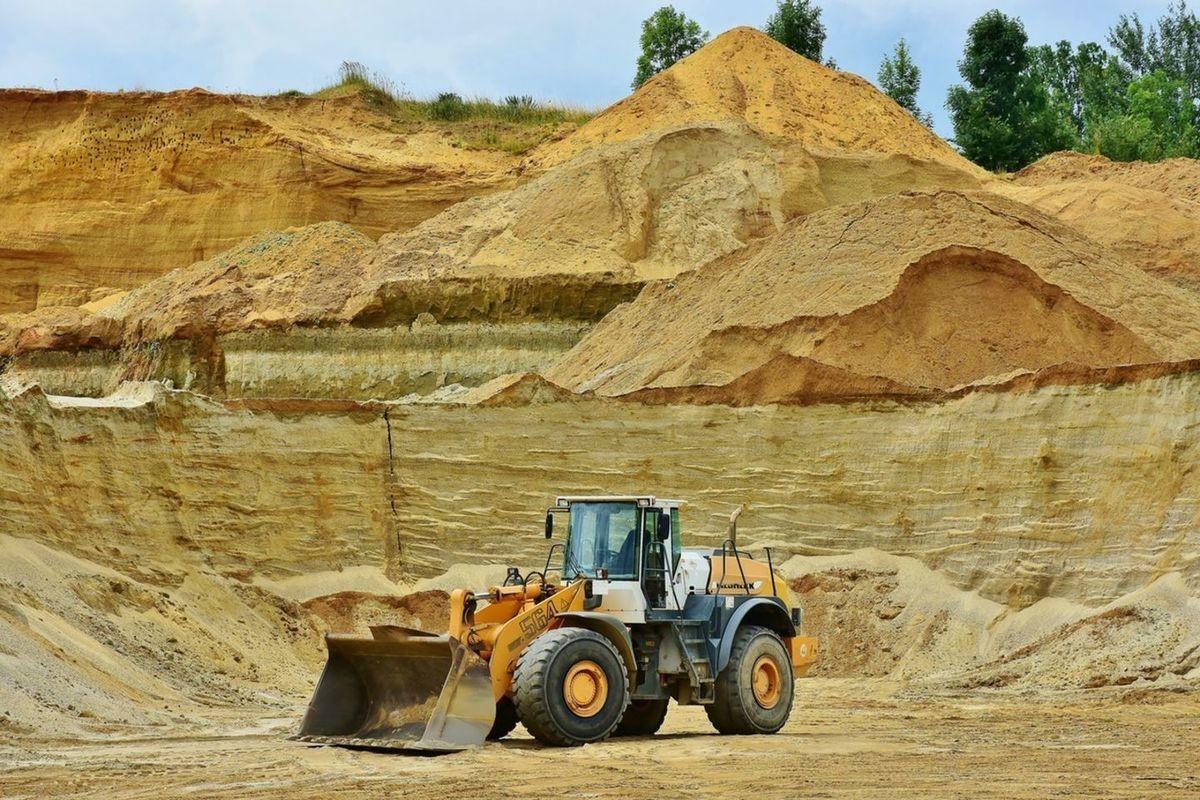 фото песок карьерный